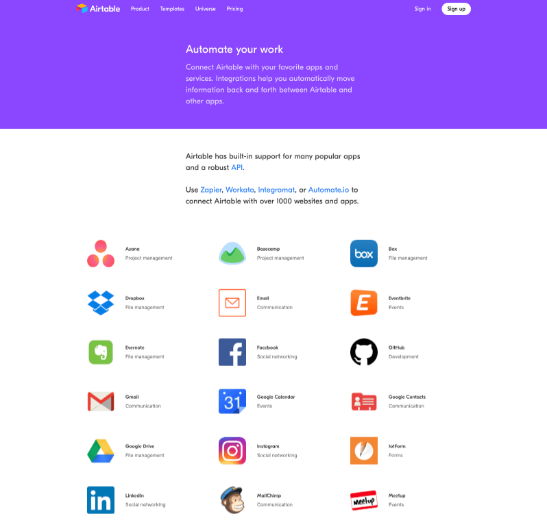 Integrate With Your Favorite Apps