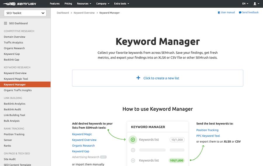 Keyword-Manager