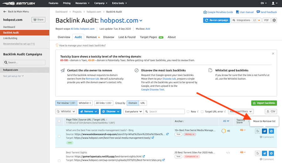 Remove-Backlinks