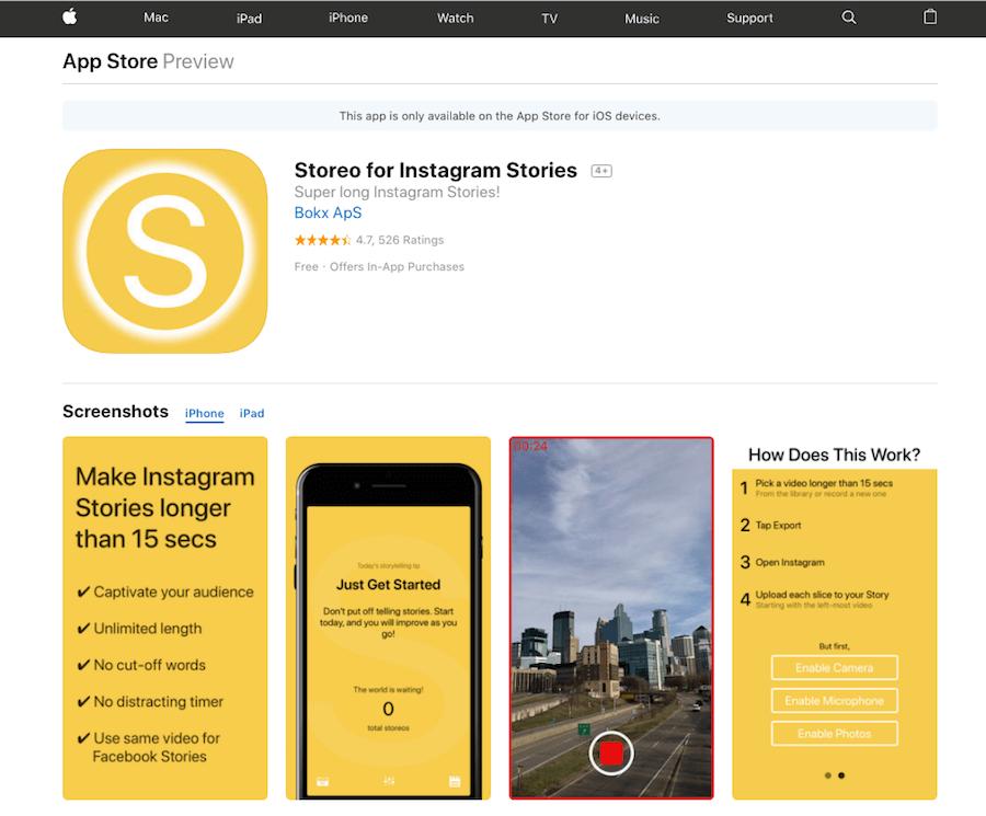 Storeo-for-Instagram-Stories