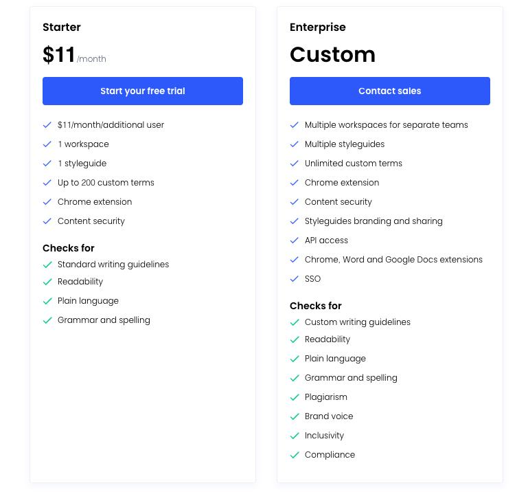 Writer Pricing
