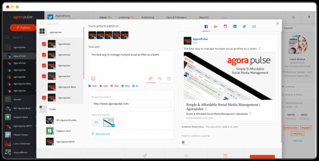 AgoraPulse-Interface