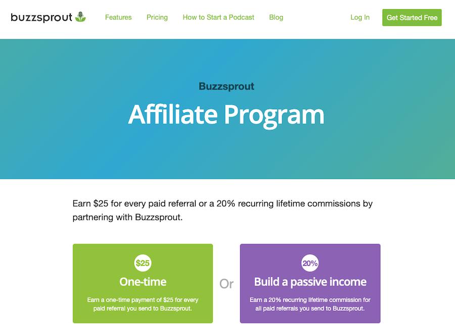 Buzzsprout Affiliate program