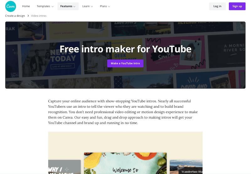 Canva YouTube Intro Maker