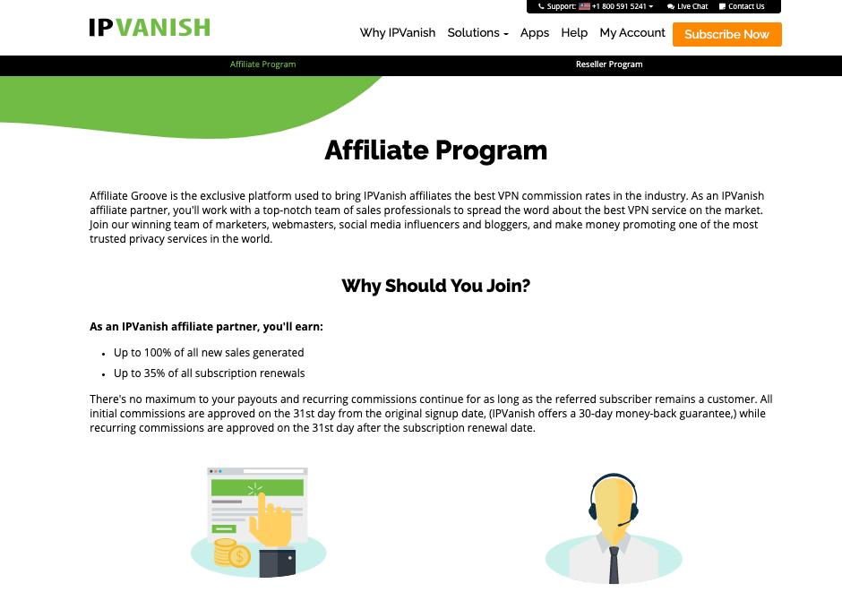 IPVanish Affiliate Program