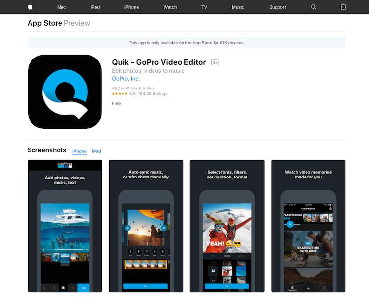 Quik-GoPro-Video-Editor