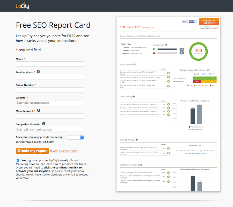 SEO-Report-Card