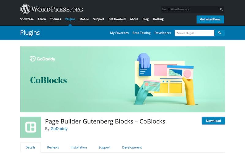 CoBlocks Gutenberg Page Builder