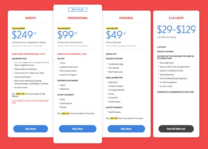 Ninja-Forms-Pricing