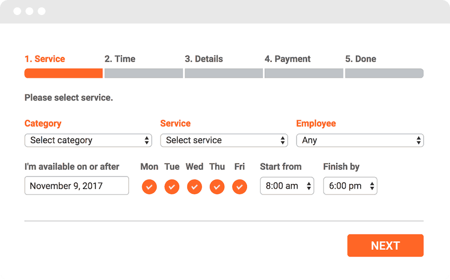 Bookly appointment booking plugin