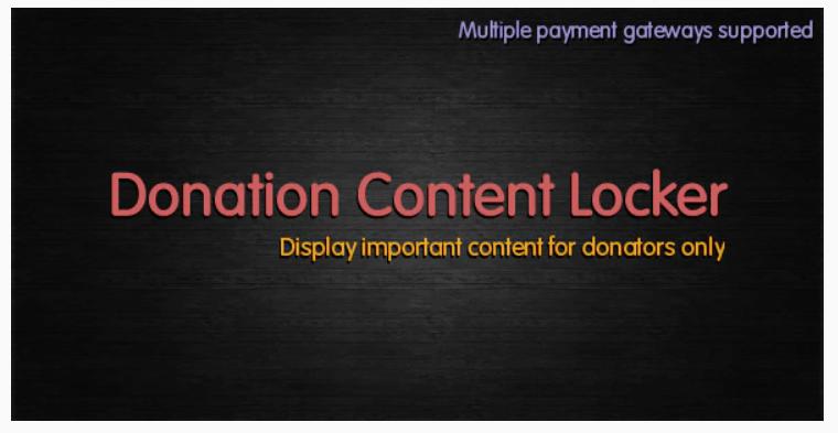 Donation-Content-Locker