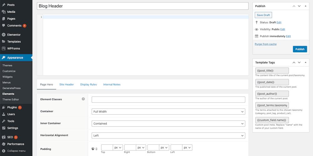 GeneratePress-Header-Element