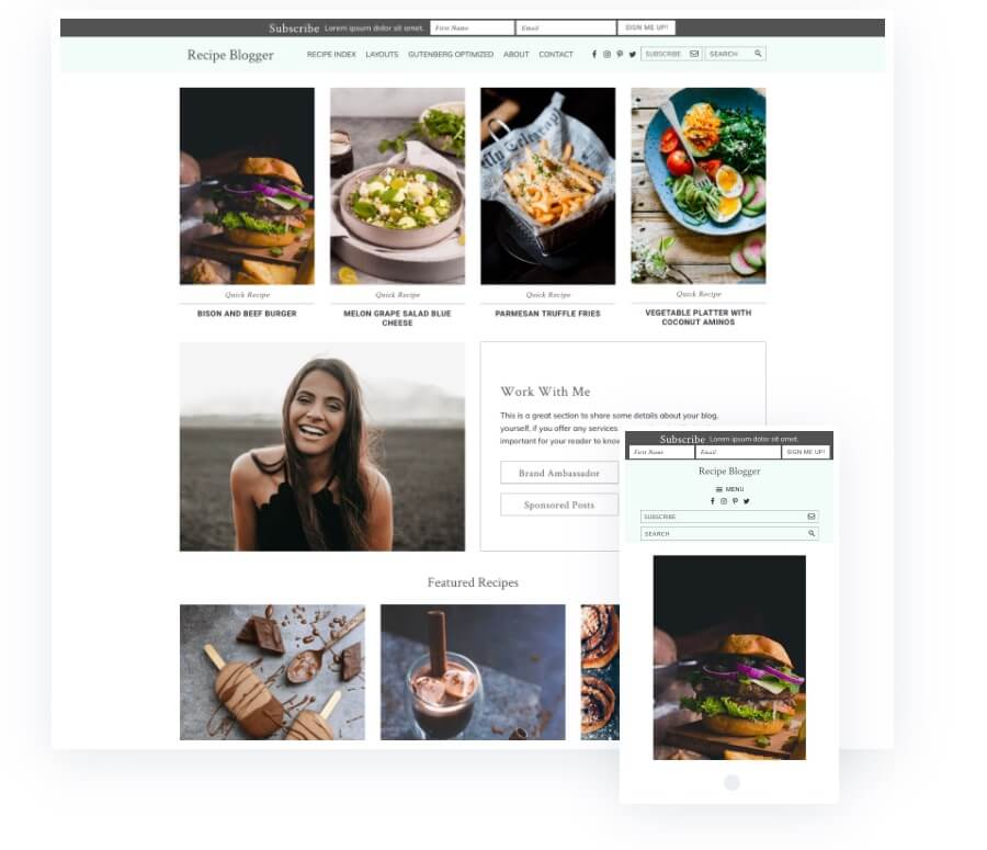 Recipe-Blogger-Theme-Package