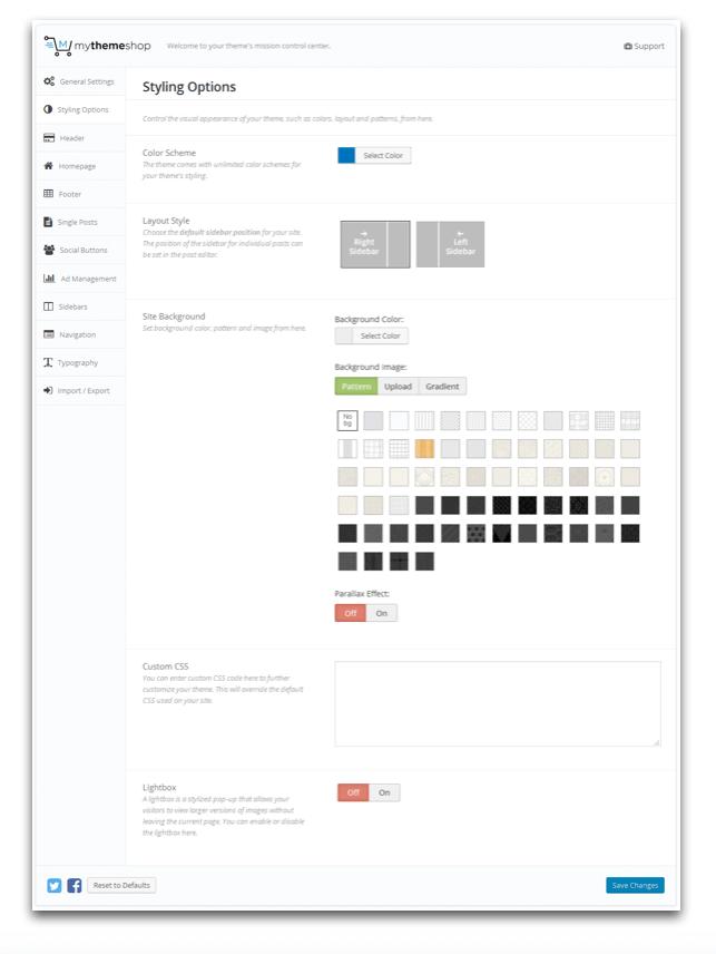 Schema-Theme-Styling-Options