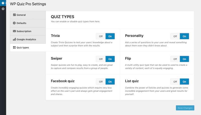 Select-Quiz-Type