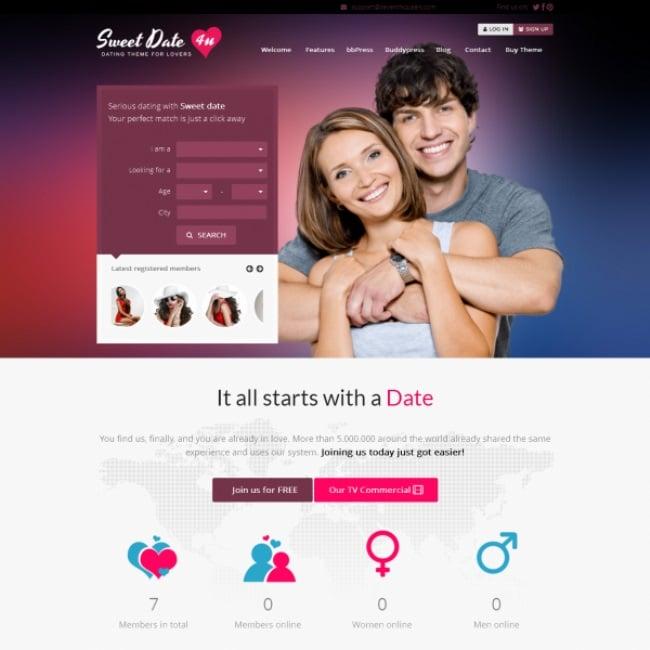 Sweet-Date-BuddyPress-Theme