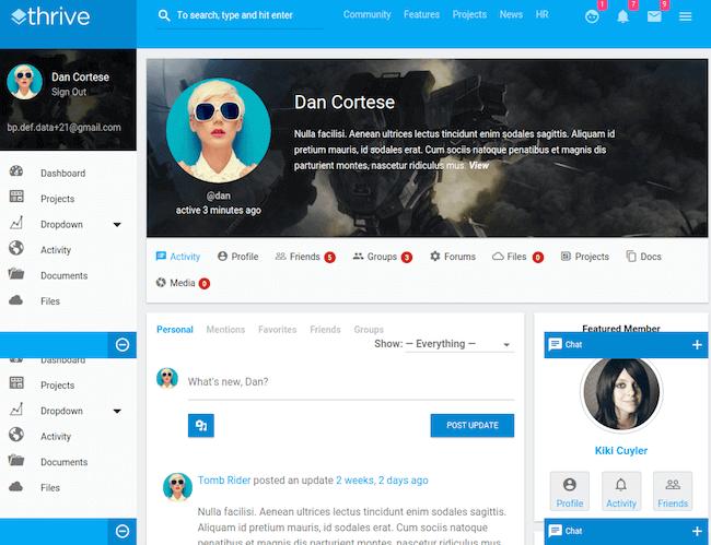 Thrive-BuddyPress-Theme