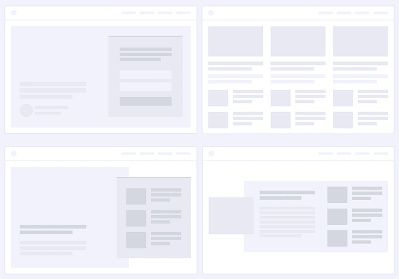 pre-defined-homepage-sections