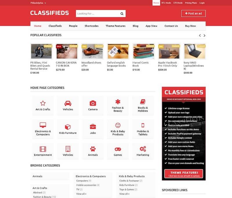 templatic-classifieds-theme