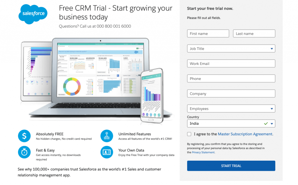 Salesforce CRM Free Trial