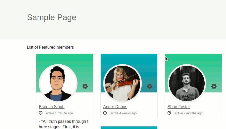 BuddyPress Featured Members
