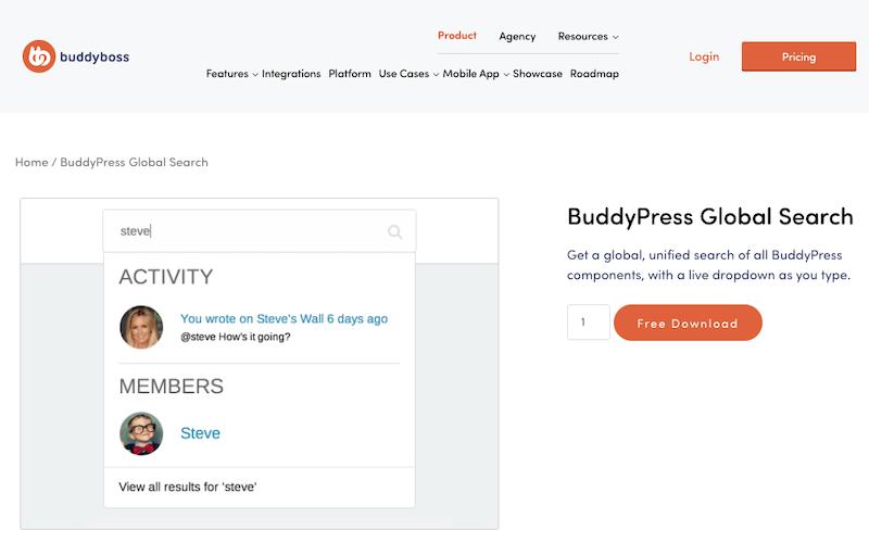 BuddyPress Global Search