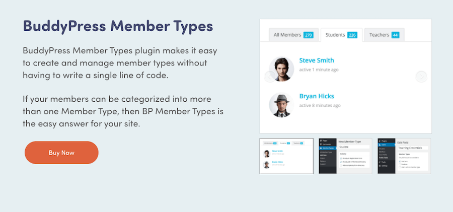 BuddyPress Member Types