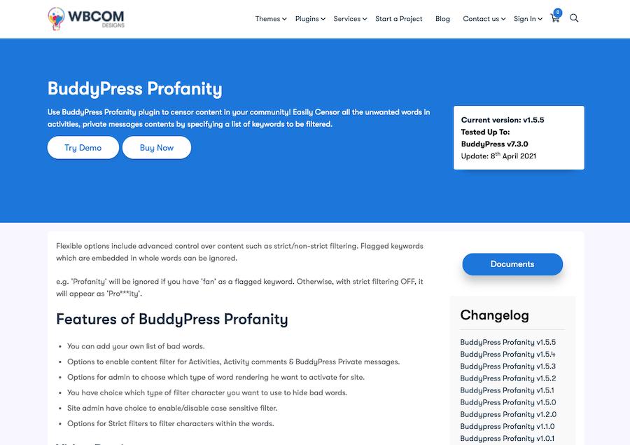 BuddyPress Profanity