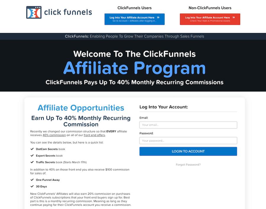 ClickFunnels Affiliate Program