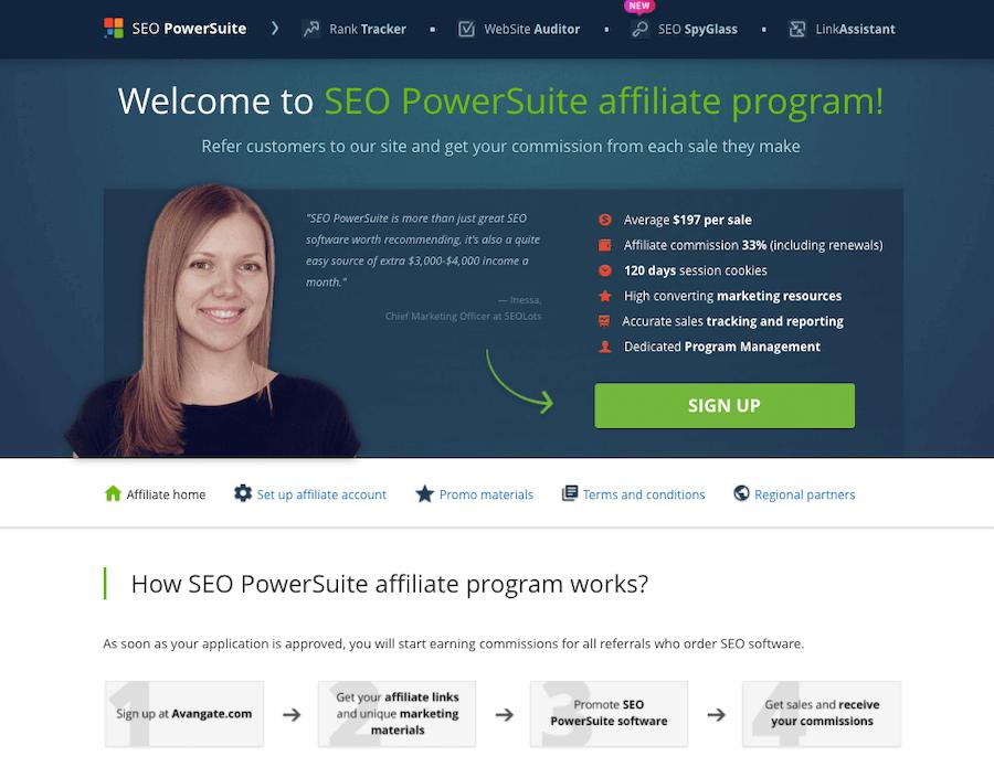 SEO PowerSuite Affiliate Program