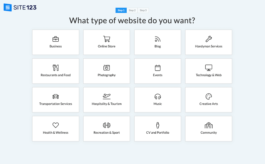 Select Site Type