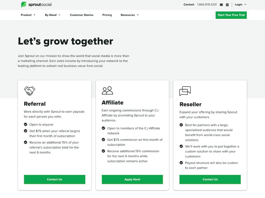 Sprout Social Affiliate Program