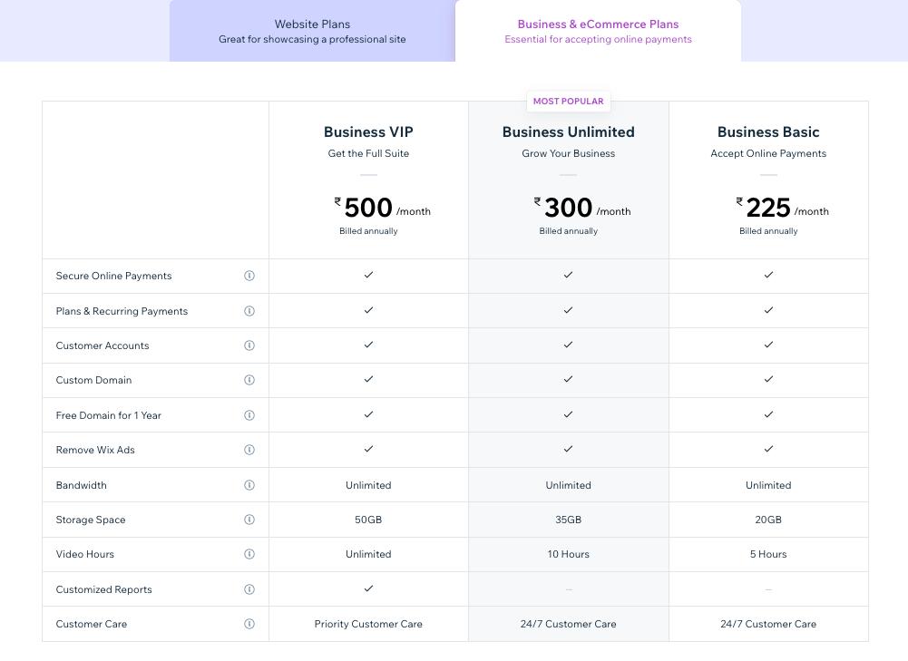 Wix eCommerce Site