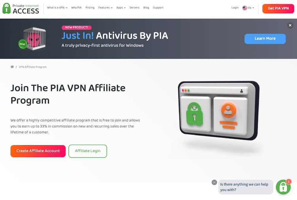Private Internet Access VPN Affiliate Program