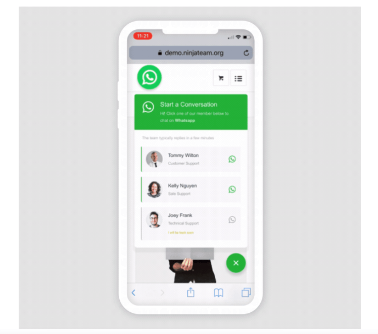 WhatsApp Chat WordPress Plugin