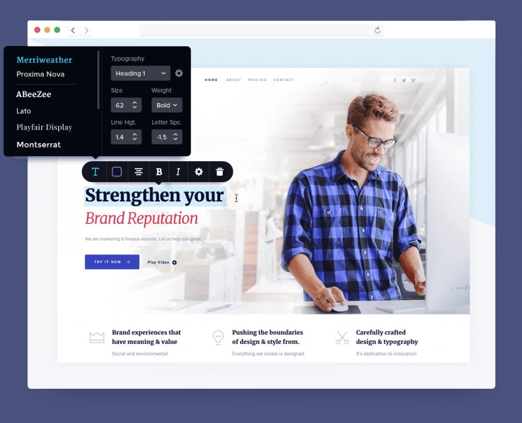 Brizy website builder