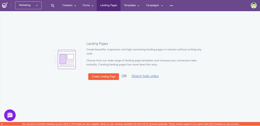 EngageBay Landing Page
