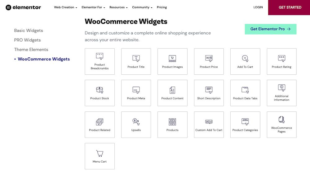 Elementor WooCommerce Elements