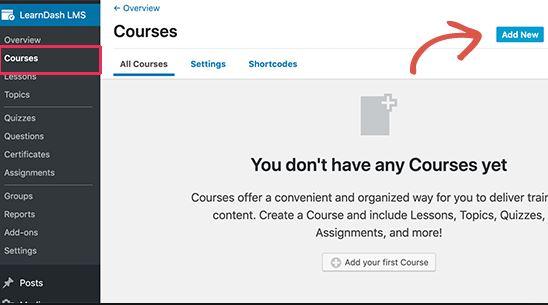 Courses adding